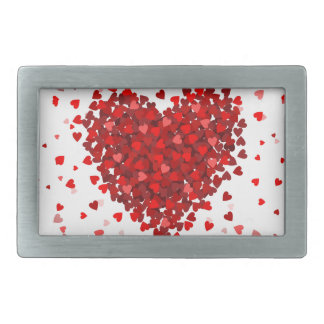 happy valentines day hearts belt buckle