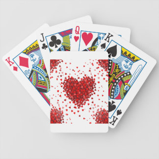 happy valentines day hearts bicycle playing cards
