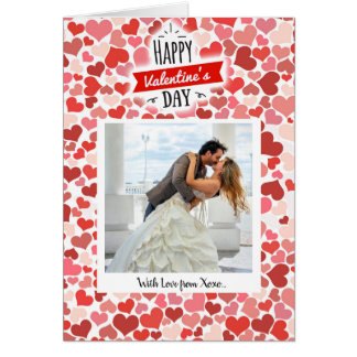 Happy Valentine's Day Hearts Card