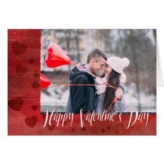 Happy Valentine's Day hearts custom photo Card