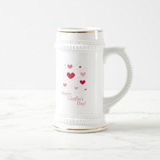 Happy Valentine's Day Hearts Mug