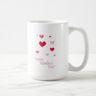 Happy Valentine's Day Hearts Coffee Mugs
