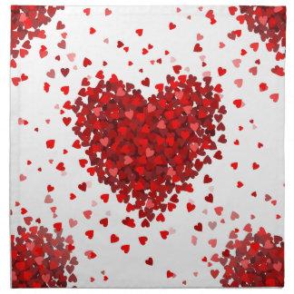 happy valentines day hearts napkin