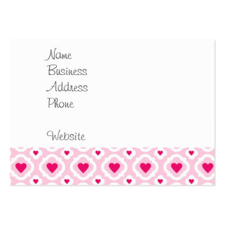 Happy Valentine's Day Hearts Pattern Pink Red Business Cards