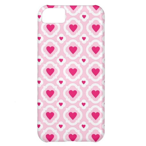 Happy Valentine's Day Hearts Pattern Pink Red Case For iPhone 5C