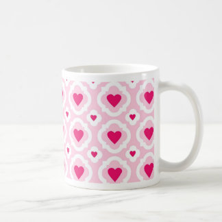 Happy Valentine's Day Hearts Pattern Pink Red Coffee Mug