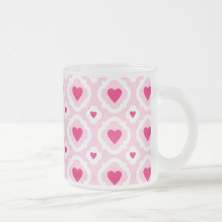 Happy Valentine's Day Hearts Pattern Pink Red Coffee Mugs