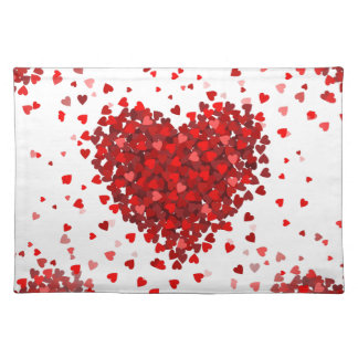 happy valentines day hearts placemat