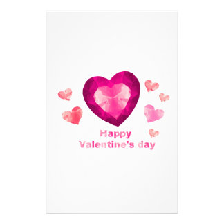 Happy Valentine's day hearts Stationery