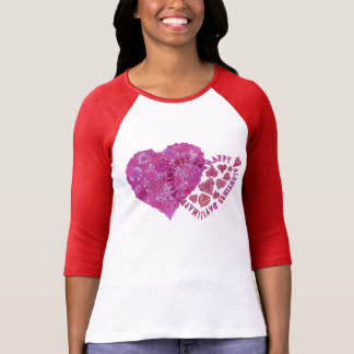 Happy Valentine's Day!!.Lacy Hearts T-Shirt