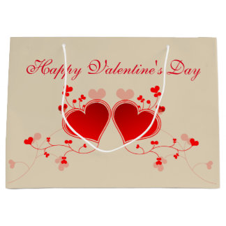 Happy Valentine's Day Large Gift Bag