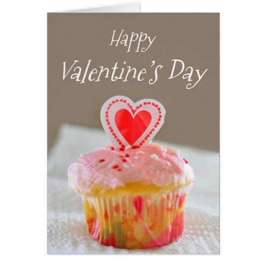 Happy Valentine's Day, Little Cupcake Card