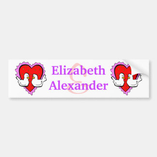 Happy Valentines Day Love Birds Sweetheart Couple Bumper Sticker