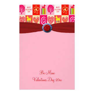 Happy Valentines Day Love Personalized Customized Stationery