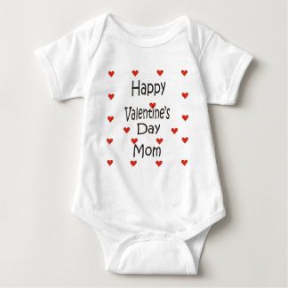 Happy Valentine's Day Mom Baby Bodysuit