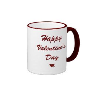 Happy Valentine's Day mug with hearts