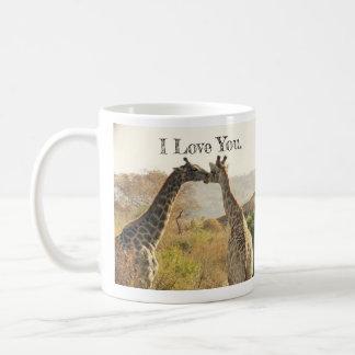 Happy Valentine's Day Mug with I Love You Giraffes