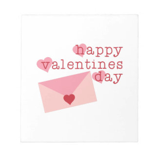 Happy Valentines Day Memo Note Pad