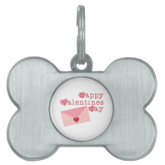 Happy Valentines Day Pet ID Tag