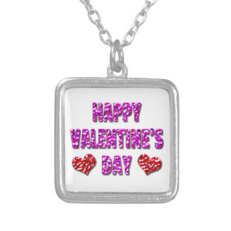Happy Valentine's Day Pink and Red Necklace