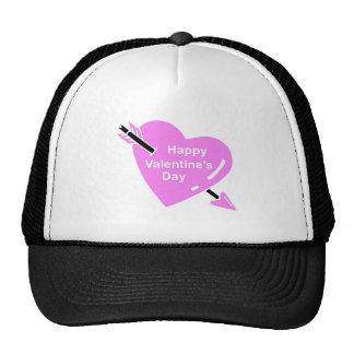 Happy Valentines Day Pink Heart Trucker Hat