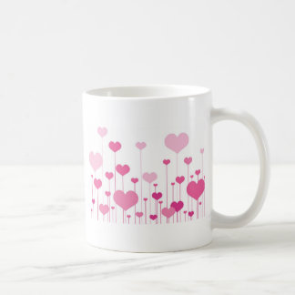 Happy Valentine's Day pink hearts Mugs
