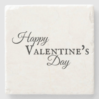 Happy Valentine's Day Posavasos Stone Beverage Coaster
