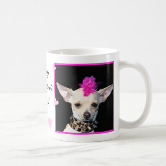 Happy Valentine's Day Punk Chihuahua Mug