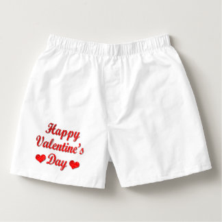 Happy Valentine's Day Red Hearts Boxer Shorts Boxers