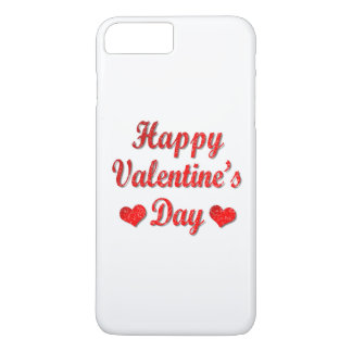 Happy Valentine's Day Red Hearts iPhone 7 Case