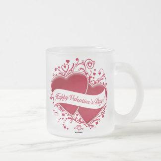 Happy Valentine's Day! Red Hearts Mug