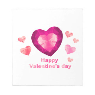 Happy Valentine's day red hearts Scratch Pads