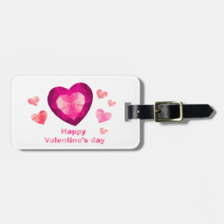 Happy Valentine's day red hearts Tags For Luggage