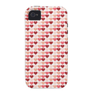 Happy Valentine's Day Red Pink Hearts Pattern iPhone 4/4S Case