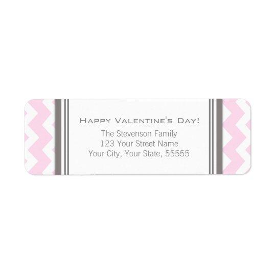 Happy Valentine's Day Return Address Labels Pink