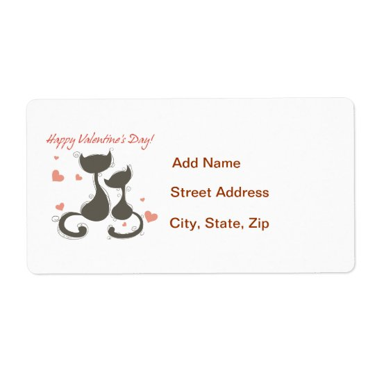 Happy Valentines Day Shipping Label