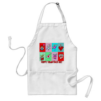 Happy Valentines Day Standard Apron
