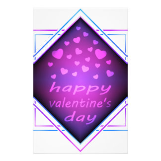Happy valentines day stationery