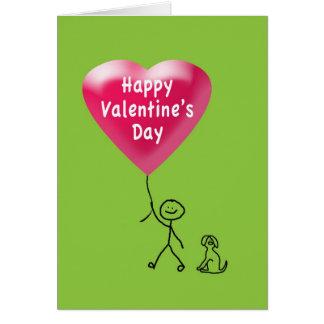 Happy Valentine's Day Stick Figure Card