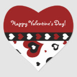 Happy Valentine's Day Stickers Hearts Red