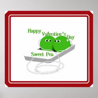Happy Valentine's Day, Sweet Pea Poster