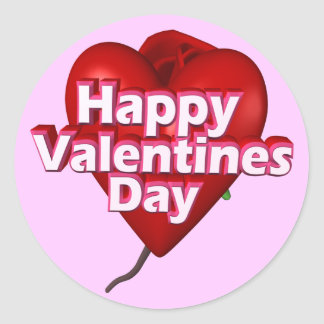 Happy Valentine's Day T-shirts and Gifts Round Sticker