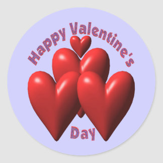 Happy Valentines Day T-shirts and Gifts Round Sticker