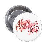 Happy Valentine's Day Text Design 6 Cm Round Badge