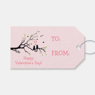 Happy Valentine's Day Two Black Cats in Love Gift Tags