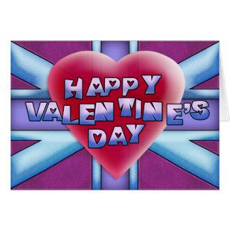 Happy Valentine's Day Union Jack Card