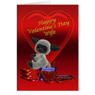 Happy Valentine's Day Wife Card