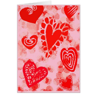 Happy Valentine's Day  with Hearts Card