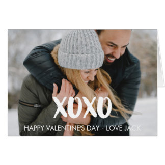 Happy Valentine's Day XOXO Brush Script Card