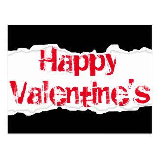 Happy Valentine's (torn rip) Postcard